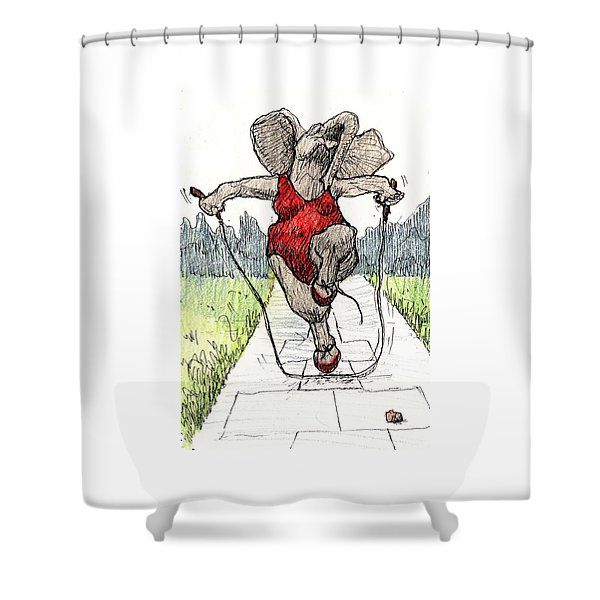 Skipping Rope Shower Curtain