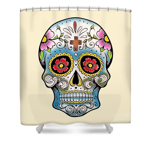 Skull 10 Shower Curtain