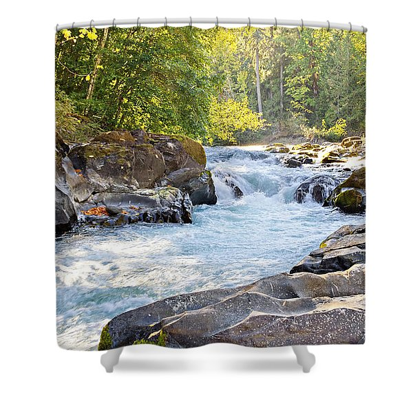 Skutz Falls At Cowichan River Provincial Park Shower Curtain