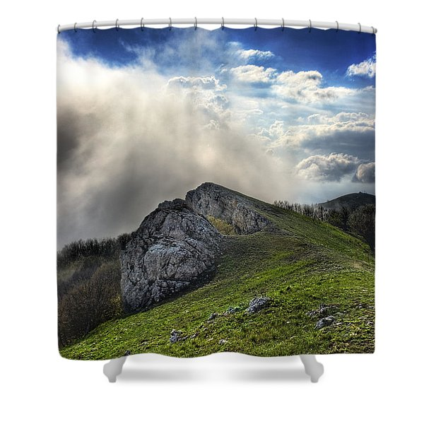 Sky Boundary Shower Curtain