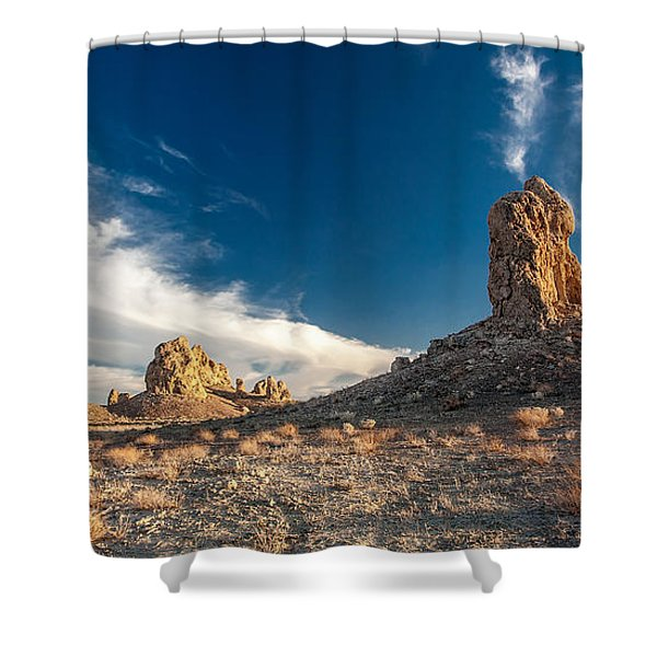 Sky Masters - Trona Pinnacles Shower Curtain