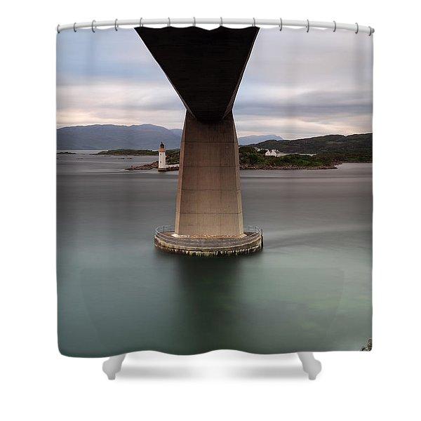 Skye Bridge At Sunset Shower Curtain