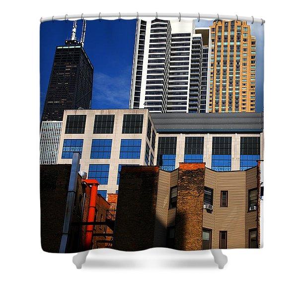 Skyline Building Blocks Shower Curtain