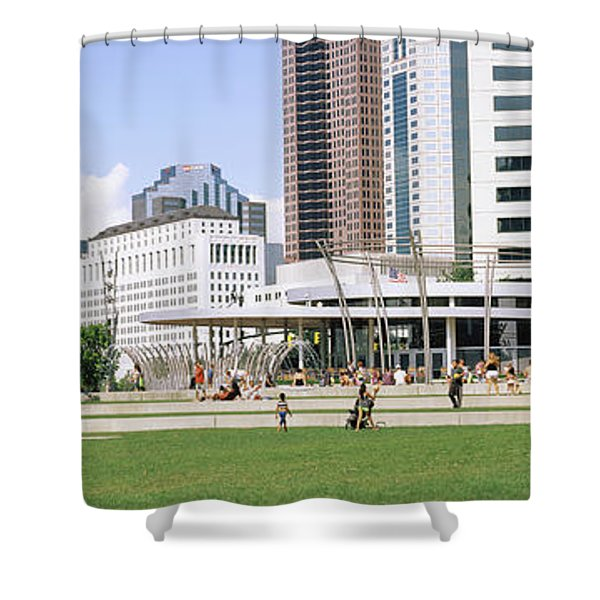 Skyscrapers In A City, Columbus, Ohio Shower Curtain