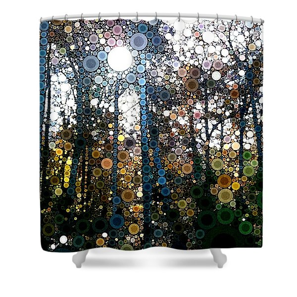 Skyway Forest At Dawn Shower Curtain