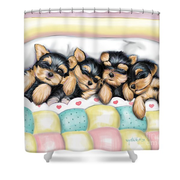 Sleeping Babies Shower Curtain