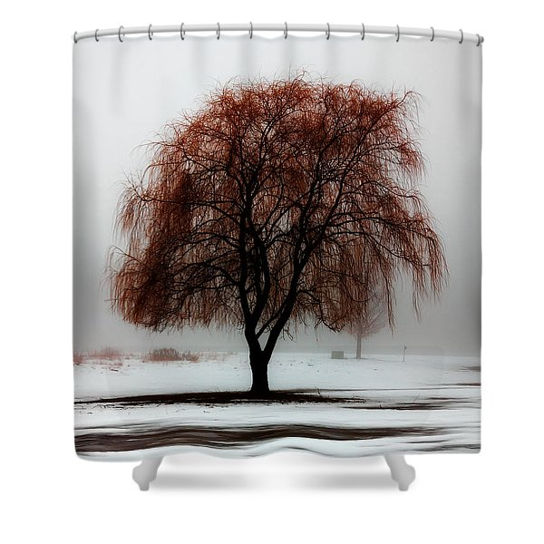 Sleeping Willow Shower Curtain