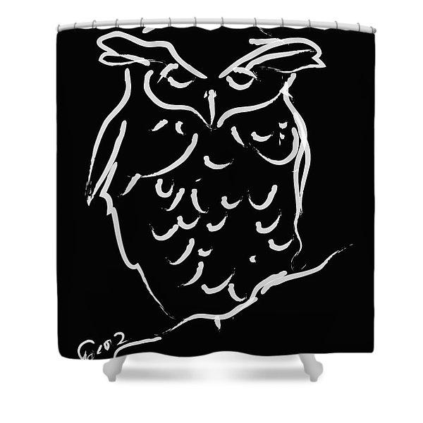 Sleepy Owl Shower Curtain