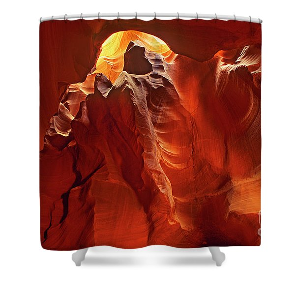 Slot Canyon Formations In Upper Antelope Canyon Arizona Shower Curtain