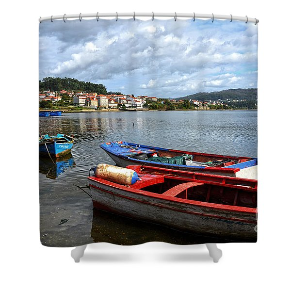 Small Boats In Galicia Shower Curtain