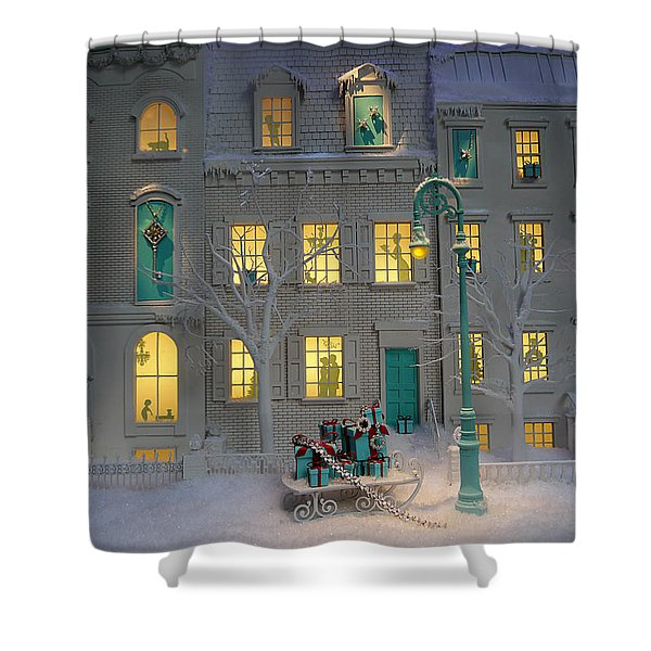 Small World - Tiffany Christmas 2 Shower Curtain
