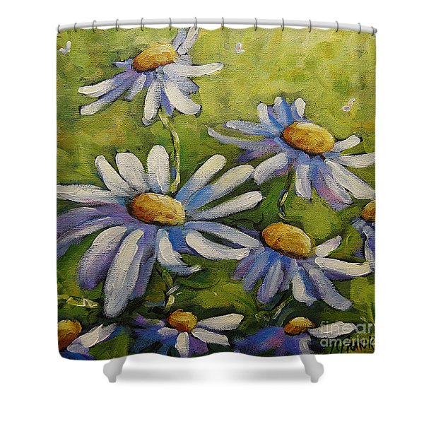 Smiling Daisies By Prankearts Shower Curtain