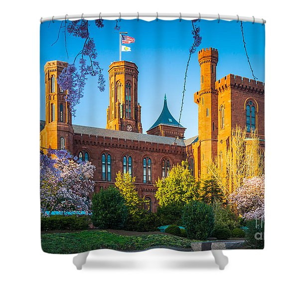 Smithsonian Castle Shower Curtain