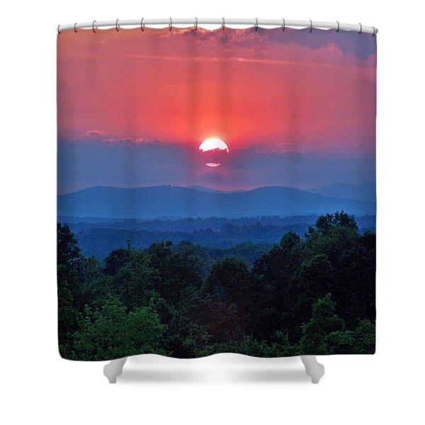 Smokey Mtn Sunset Shower Curtain