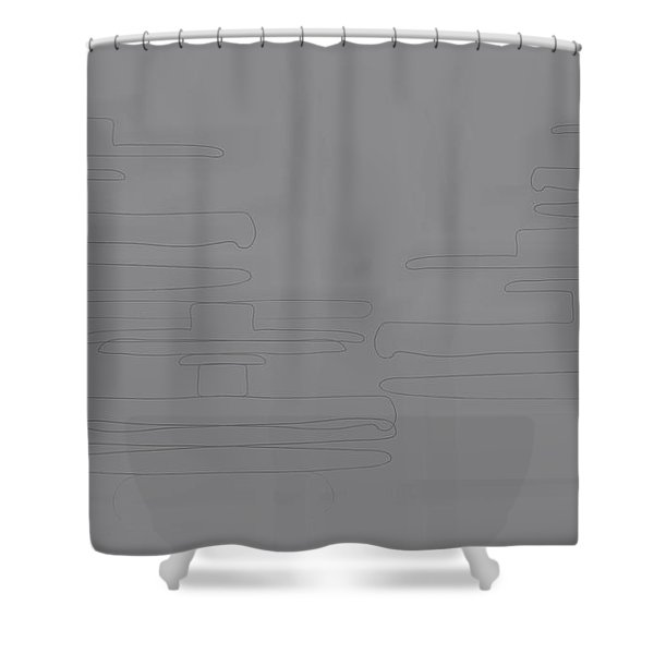 Smoky Cliff Shower Curtain