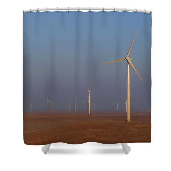 Smoky Hills Wind Project Shower Curtain