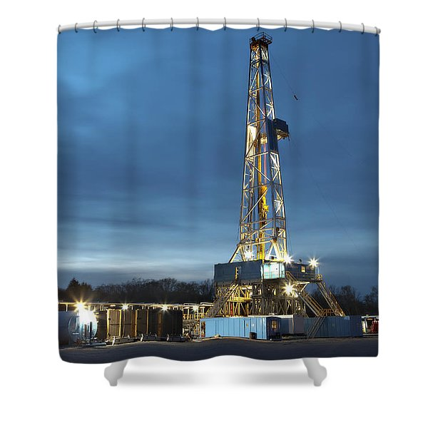 Smooth Drilling Shower Curtain