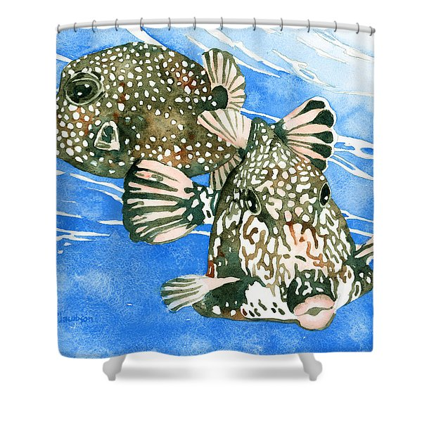 Smooth Trunkfish Pair Shower Curtain