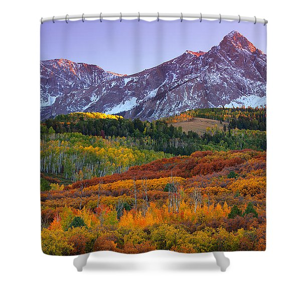 Sneffels Sunrise Shower Curtain