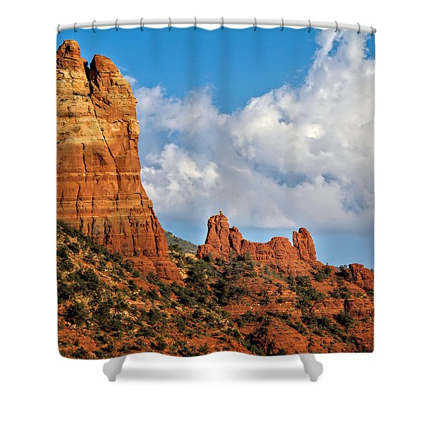 Shower Curtain featuring the photograph Snoopy Rock by Jemmy Archer