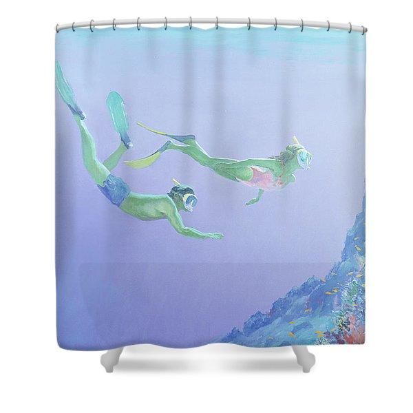 Snorklers Shower Curtain
