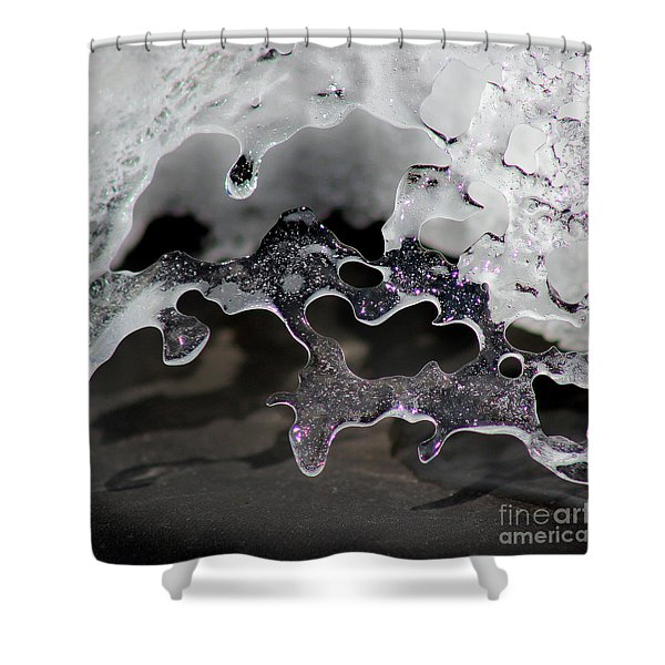 Snow And Ice Square Shower Curtain