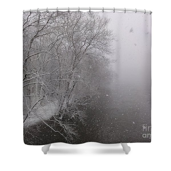 Snow At Bulls Island - 12 Shower Curtain