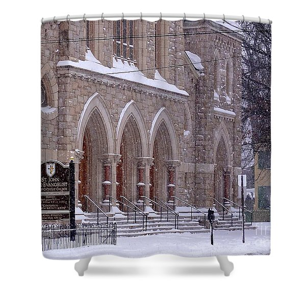 Snow At St. John's Shower Curtain