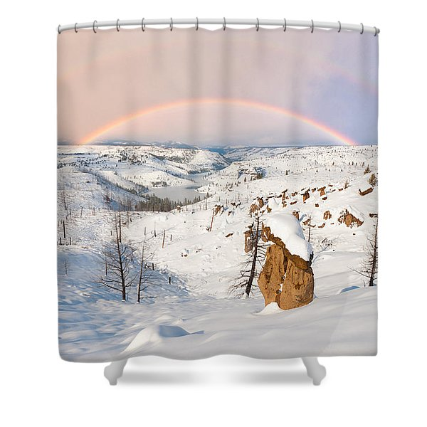Snow Capped Hoodoo's Shower Curtain