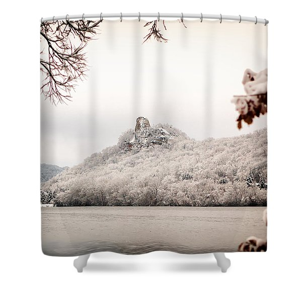 Snow Covered Sugarloaf Shower Curtain