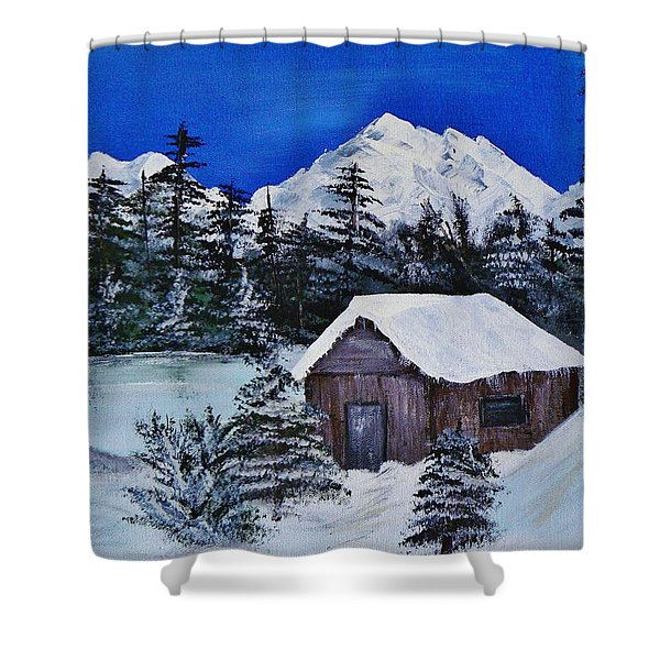 Snow Falling On Cedars Shower Curtain