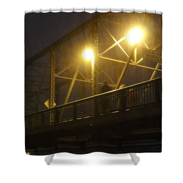 Snow In Lambertville Shower Curtain
