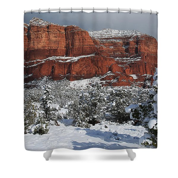 Snow In Sedona Shower Curtain