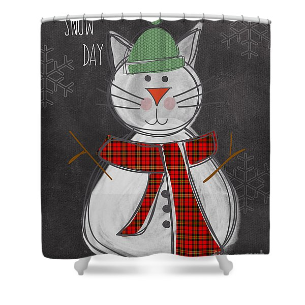 Snow Kitten Shower Curtain