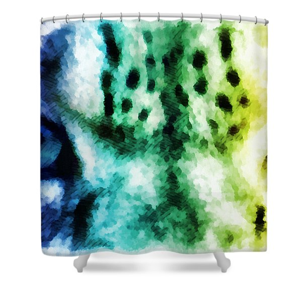 Snow Leopard Eyes 2 Shower Curtain