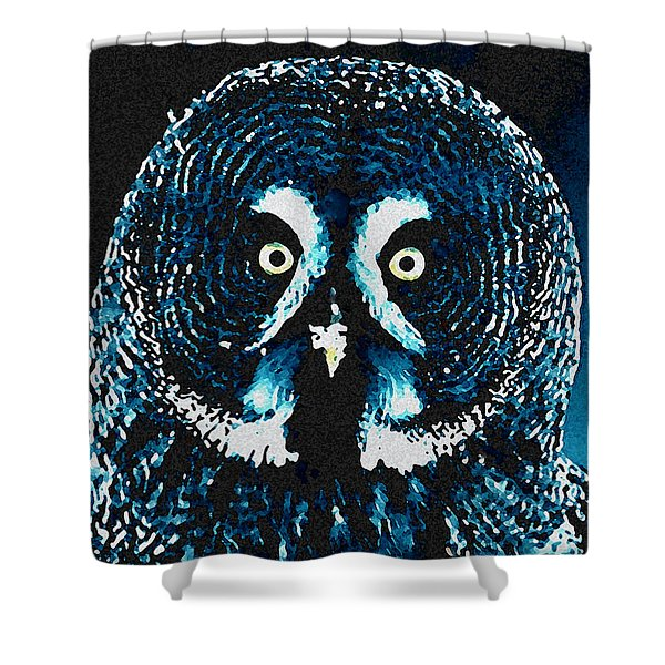 Snow Owl Shower Curtain