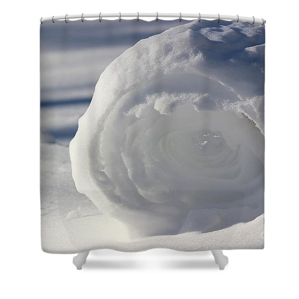 Snow Roller In Late Afternoon Shower Curtain