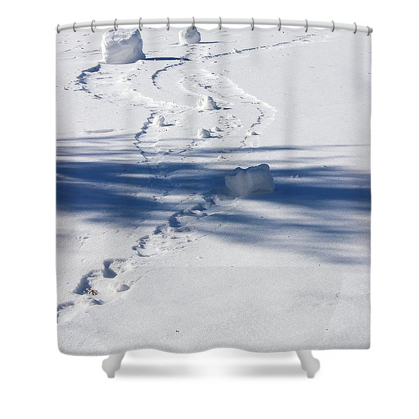 Snow Rollers Shower Curtain