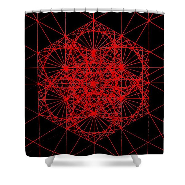 Snowflake Shape Comes From Frequency And Mass Shower Curtain