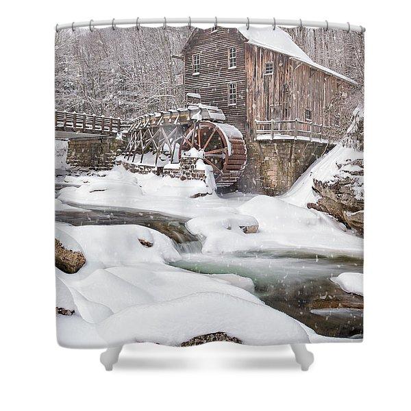 Snowglade Creek Grist Mill Shower Curtain