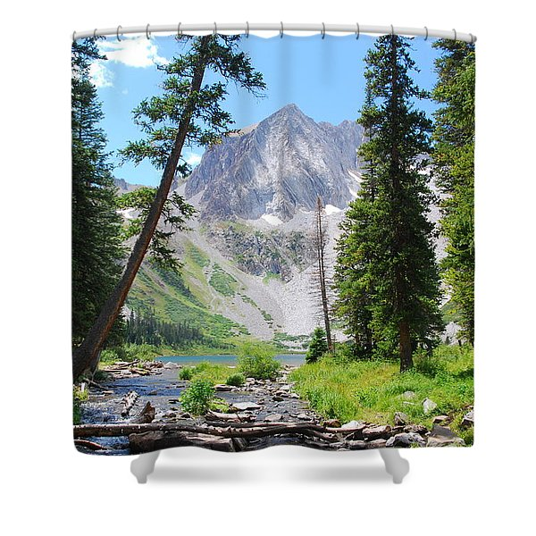 Snowmass Peak Landscape Shower Curtain