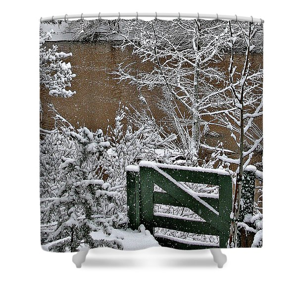 Snowy River Gate Shower Curtain
