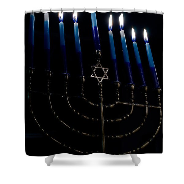 So Let Your Light Shine Shower Curtain