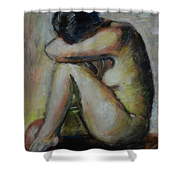 So Tired Shower Curtain