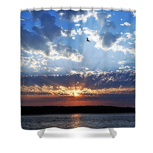 Soaring Sunset Shower Curtain