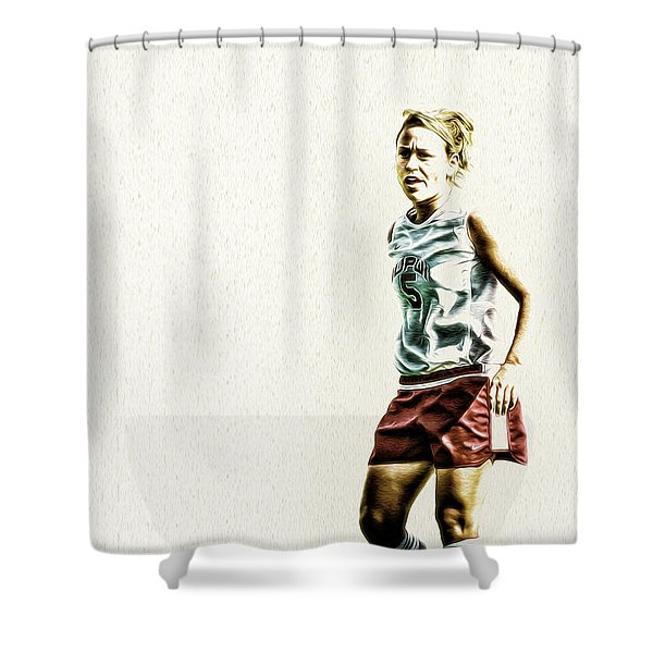 Soccer Iupui Painted Digitally Shower Curtain