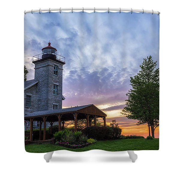 Sodus Bay Lighthouse Shower Curtain