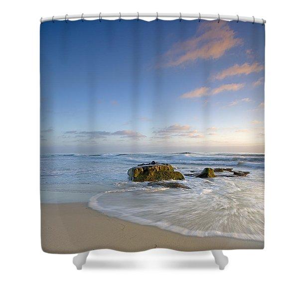Soft Blue Skies Shower Curtain