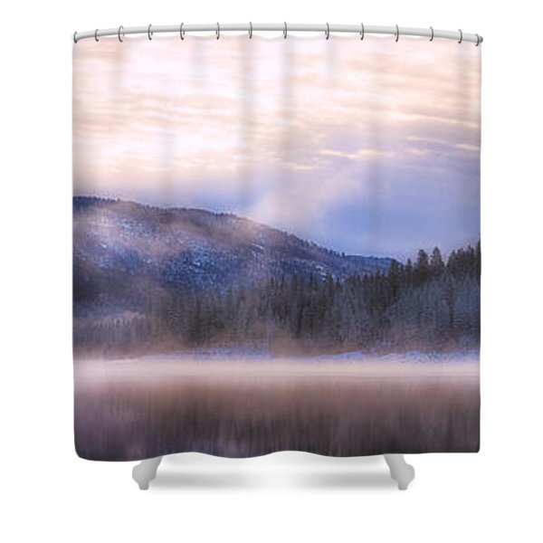 Soft Light Of Winter Shower Curtain