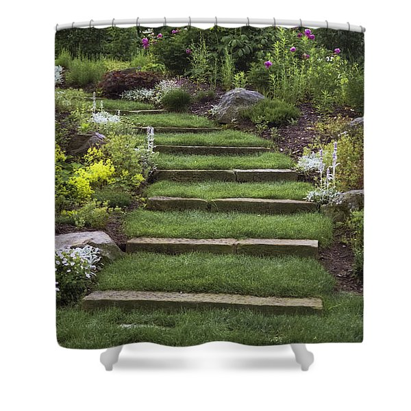 Soft Stairs Shower Curtain